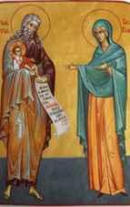 Cântare de laudă la Dreptul Simeon, apărătorul copiilor mici