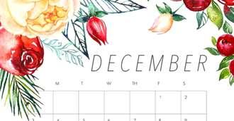Calendar zile bune pentru sănătate și frumusețe în decembrie 2017