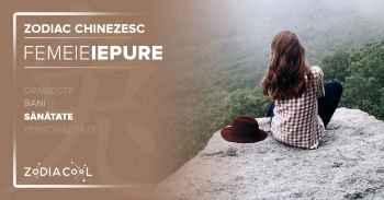 Zodia IEPURE. FEMEIA Iepure, Horoscop chinezesc sanatate.